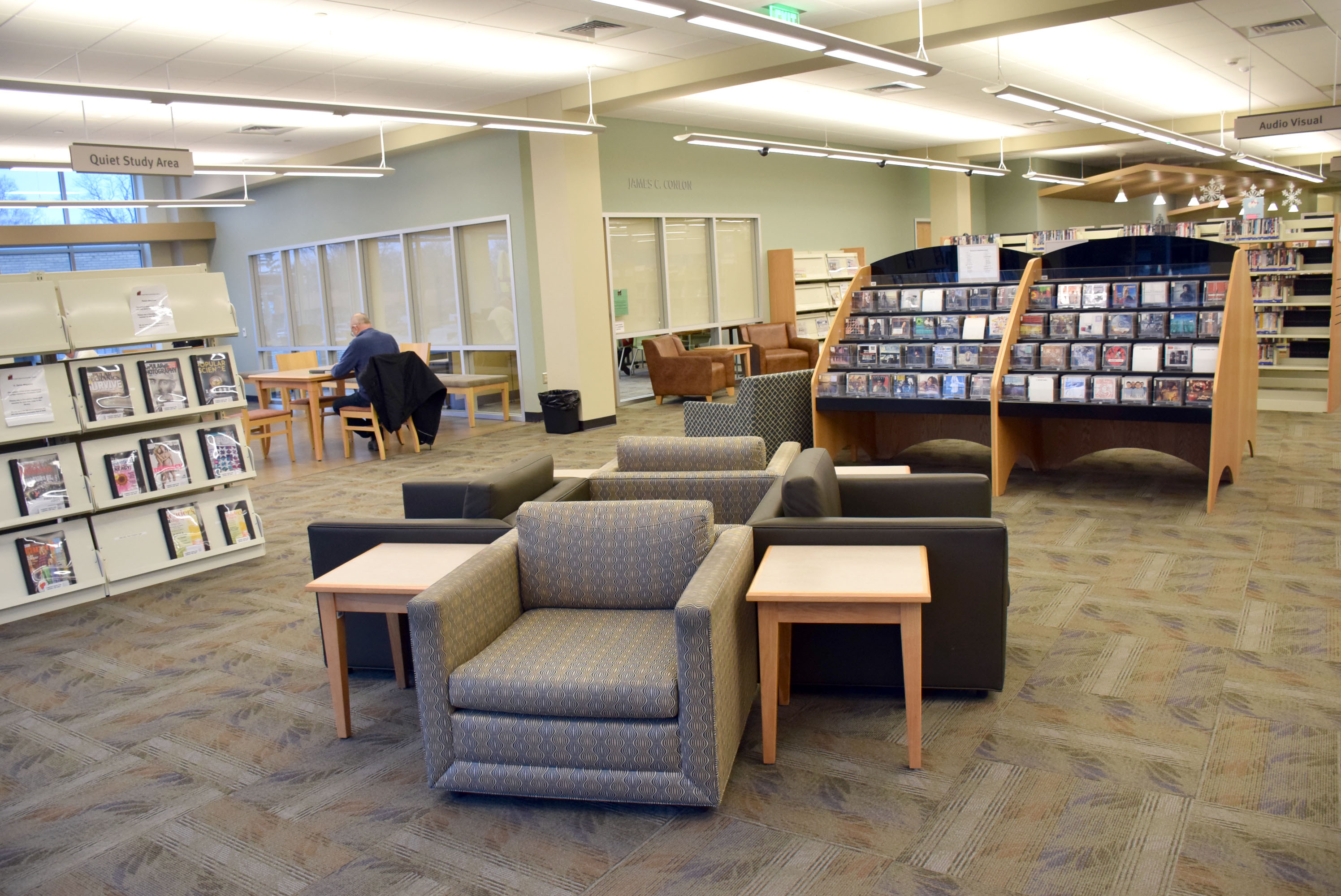 ... Conlon Community Literacy Center and utilized existing space on the 1st  floor to create new seating areas for patrons, relocate collections and  provide ...